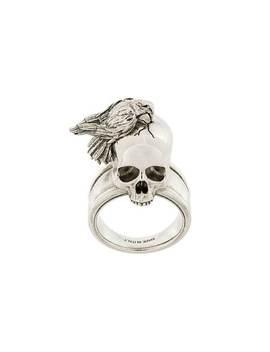 Alexander Mc Queen Raven And Skull Ringhome Men Alexander Mc Queen Jewelry Rings by Alexander Mc Queen