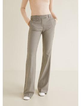 Pantalon De Costume à Carreaux Vichy by Mango