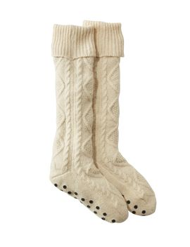 Fireside Gripper Socks, Lined by L.L.Bean