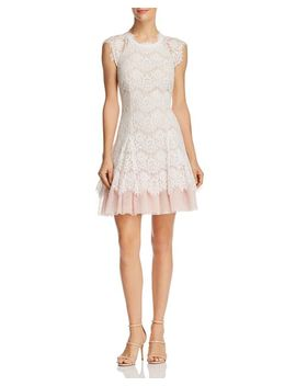 Lace Fit And Flare Dress   100 Percents Exclusive by Aqua