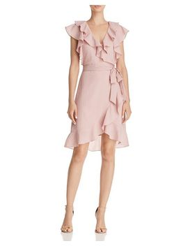 Hermosa Ruffled Faux Wrap Dress   100 Percents Exclusive by Lucy Paris