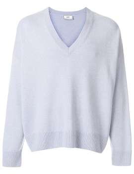 Ami Alexandre Mattiussi Oversized V Neck Sweaterhome Men Ami Alexandre Mattiussi Clothing Knitted Sweaters by Ami Alexandre Mattiussi