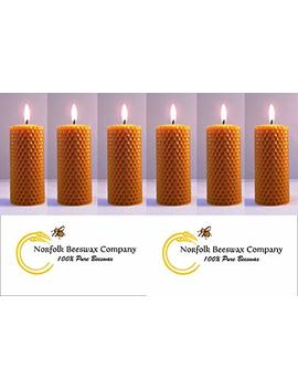 Norfolk Beeswax Company   6 X Pure Natural Beeswax Candles To All Uk Postcodes by Norfolk Beeswax Company