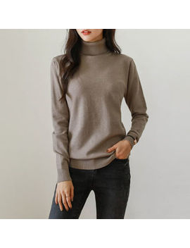 Justone   Turtle Neck Knit Top by Justone