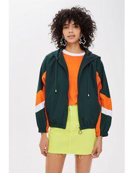 Green Windbreaker Jacket by Topshop