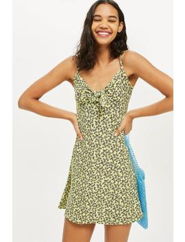Ditsy Knot Front Mini Sundress by Topshop