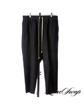 Lnwot Rick Owens Glitter Fw17 48 Percents Baby Alpaca Black Drop Crotch Pod Pants 52 Nr by Rick Owens