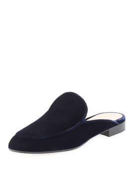Palau Velvet Flat Loafer Mule by Neiman Marcus