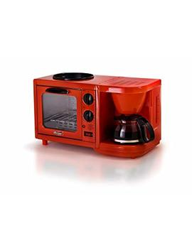 Elite Cuisine Ebk 200 R Maxi Matic 3 In 1 Multifunction Breakfast Center, Red by Maxi Matic