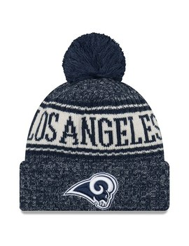 Los Angeles Rams New Era 2018 Nfl Sideline Cold Weather Official Sport Knit Hat – Navy by New Era