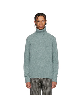 Green Merino Wool Turtleneck by Ami Alexandre Mattiussi