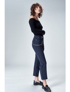 Tommy Pant   Navy Pinstripe by Miaou
