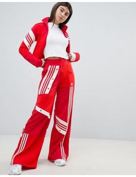 Adidas Originals X Danielle Cathari Deconstructed Track Pants In Red by Adidas