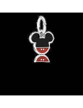 Disney, Mickey Icon Dangle Charm, Mixed Enamel Sterling Silver, Enamel, Black by Pandora