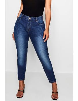 Plus Fabienne High Rise Mom Jeans by Boohoo