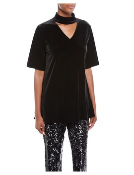 Velvet Choker Tunic by Joan Vass