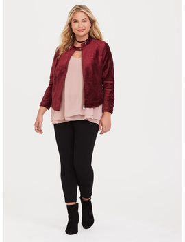 Lattice Velvet Moto Jacket by Torrid