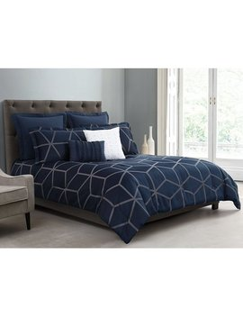 Chezmoi Collection Corvo 5 Piece Modern Geometric Lattice Jacquard Comforter Set by Chezmoi Collection