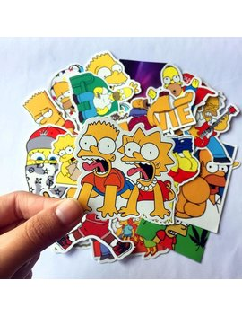 Simpsons Stickers Pack (X25) Vinyl Decals   Homer Sticker   Bart Sticker   Die Cut   Lisa Stickers by Etsy