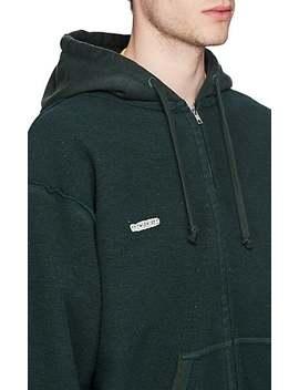 Logo Cotton Blend Fleece Inside Out Hoodie by Vetements