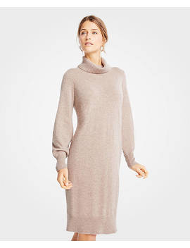 Cashmere Turtleneck Dress by Ann Taylor