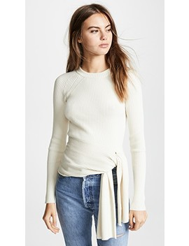 ribbed-pullover-with-waist-tie by 31-phillip-lim