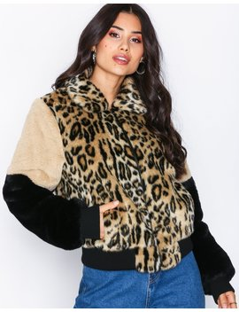 Fur Patch Bomber by Nly Trend