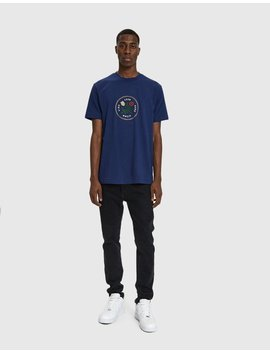 S/S Graphic Tee In Navy by Aimé Leon Dore
