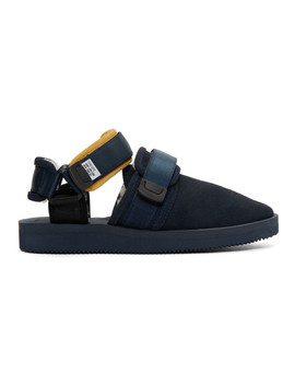 Navy Suicoke Edition Nots M Sandals by AimÉ Leon Dore