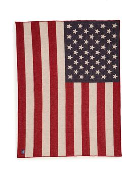 American Flag Wool Blend Blanket by Faribault Woolen Mill