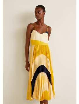 Rochie Plisată Imprimată by Mango