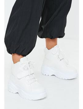 White Super Chunky Sole Utility Trainer Boots by Missguided