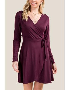 Dahlia Faux Wrap Dress by Francesca's