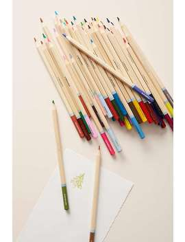 Maude Coloured Pencils + Pouch Set by Anthropologie
