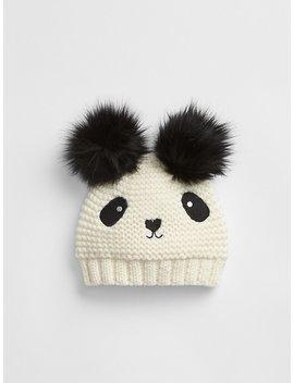 Panda Garter Beanie by Gap