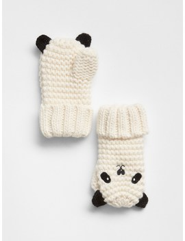 Panda Garter Mittens by Gap