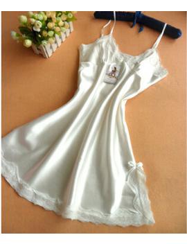 Hot 2016 Summer  Sexy Night Dress Women Silk Slips Ladies Lace Slip Sleepwear by Sudbfiggt