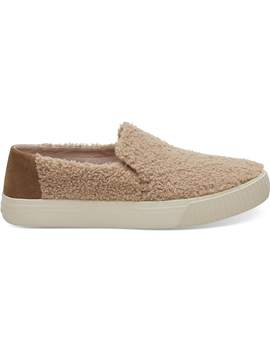 Light Brown Faux Shearling Women's Sunset Slip Ons by Toms