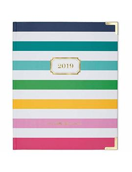 "Emily Ley 2019 Weekly & Monthly Planner, The Simplified Planner, 7 3/4"" X 10"", Medium, Hardcover, Perfect Bound, Happy Stripe (El101 903) by At A Glance"