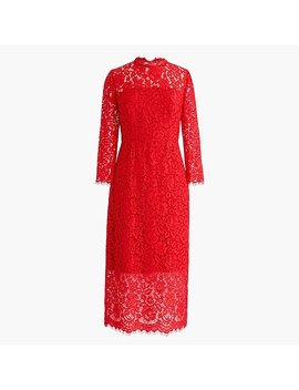 Long Sleeve Lace Sheath Dress by J.Crew