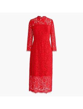 Long Sleeve Lace Sheath Dress by J.Crew
