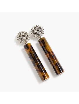 Crystal And Tortoise Drop Earrings by J.Crew