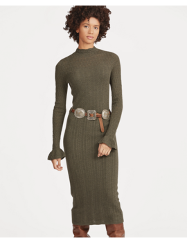 Pointelle Wool Sweater Dress by Ralph Lauren