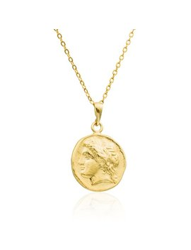 Ancient Roman Coin Necklace Gold Necklace 14k Gold Filled 0.74 Inch Gold Coin Necklace Coin Jewelry Delicate Necklace Medallion Necklace by Etsy