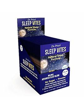 Sleep Vites Natural Sleep Aid Supplement, Melatonin, L Tryptophan, Magnesium, Taurine Powder For Non Drowsy Sleep Support, Sleep Apnea | 30 Packets | Dr. Price's Vitamins, No Sugar Non Gmo... by Dr. Price's Vitamins