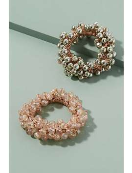Pack Of Two Beaded Hair Ties by Anthropologie