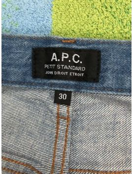 A.P.C Petit Standard Denim   Washed Indigo   Size 30   Msrp $210 Usd   Apc by Apc