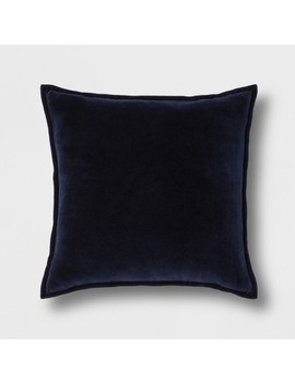 Solid Velvet With Zipper Closure Oversize Square Throw Pillow   Threshold™ by Shop This Collection