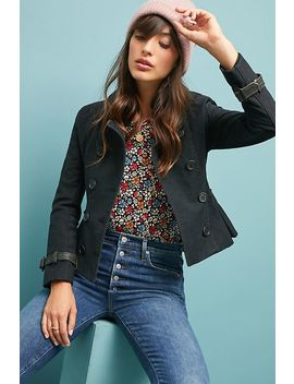 Belted Peacoat by June