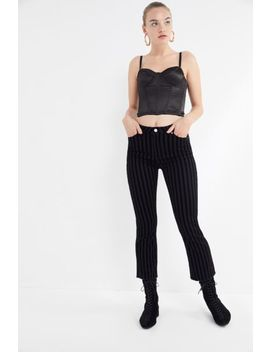 Bdg Velvet Stripe Cropped Kick Flare Jean by Bdg